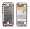 The Multicolored Stone Wall v5 Apple iPhone 5-5s LifeProof Nuud Case Skin Set