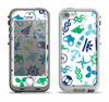 The Nautical Vector Shapes Apple iPhone 5-5s LifeProof Nuud Case Skin Set