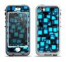 The Neon Blue Abstract Cubes Apple iPhone 5-5s LifeProof Nuud Case Skin Set