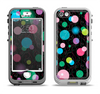 The Neon Colorful Stringy Orbs Apple iPhone 5-5s LifeProof Nuud Case Skin Set