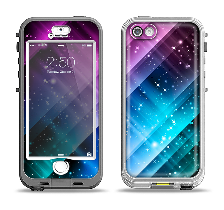 The Neon Glow Paint Apple iPhone 5-5s LifeProof Nuud Case Skin Set