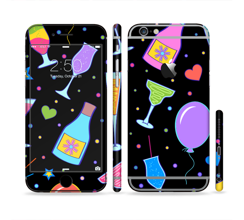 The Neon Party Drinks Sectioned Skin Series for the Apple iPhone 6/6s Plus
