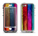 The Neon Wood Color-Planks Apple iPhone 5-5s LifeProof Nuud Case Skin Set