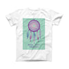 The Never Stop Dreaming Dreamcatcher ink-Fuzed Front Spot Graphic Unisex Soft-Fitted Tee Shirt