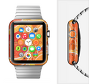 The Orange Candy Slices Full-Body Skin Set for the Apple Watch