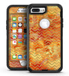 The Orange Grungy Watercolors with Chevron - iPhone 7 Plus/8 Plus OtterBox Case & Skin Kits