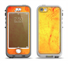 The Orange Vibrant Texture Apple iPhone 5-5s LifeProof Nuud Case Skin Set