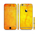 The Orange Vibrant Texture Sectioned Skin Series for the Apple iPhone 6/6s Plus