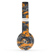 The Orange and Gray Digital Camouflage Skin Set for the Beats by Dre Solo 2 Wireless Headphones