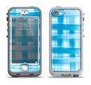 The Overlapping Blue Woven Apple iPhone 5-5s LifeProof Nuud Case Skin Set
