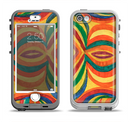 The Painted Colorful Curves Apple iPhone 5-5s LifeProof Nuud Case Skin Set