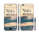 The Pastel Sunset You Cant Fly Unless You Let Yourself Fall Sectioned Skin Series for the Apple iPhone 6/6s Plus