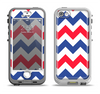 The Patriotic Chevron Pattern Apple iPhone 5-5s LifeProof Nuud Case Skin Set