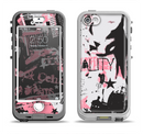 The Pink & Black Abstract Fashion Poster Apple iPhone 5-5s LifeProof Nuud Case Skin Set