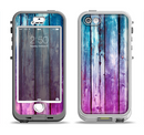The Pink & Blue Dyed Wood Apple iPhone 5-5s LifeProof Nuud Case Skin Set