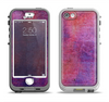 The Pink & Blue Grungy Surface Texture Apple iPhone 5-5s LifeProof Nuud Case Skin Set