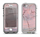 The Pink Cracked Surface Texture Apple iPhone 5-5s LifeProof Nuud Case Skin Set