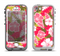 The Pink & Green Hawaiian Floral Pattern V4 Apple iPhone 5-5s LifeProof Nuud Case Skin Set