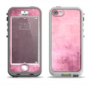 The Pink Grungy Surface Texture Apple iPhone 5-5s LifeProof Nuud Case Skin Set