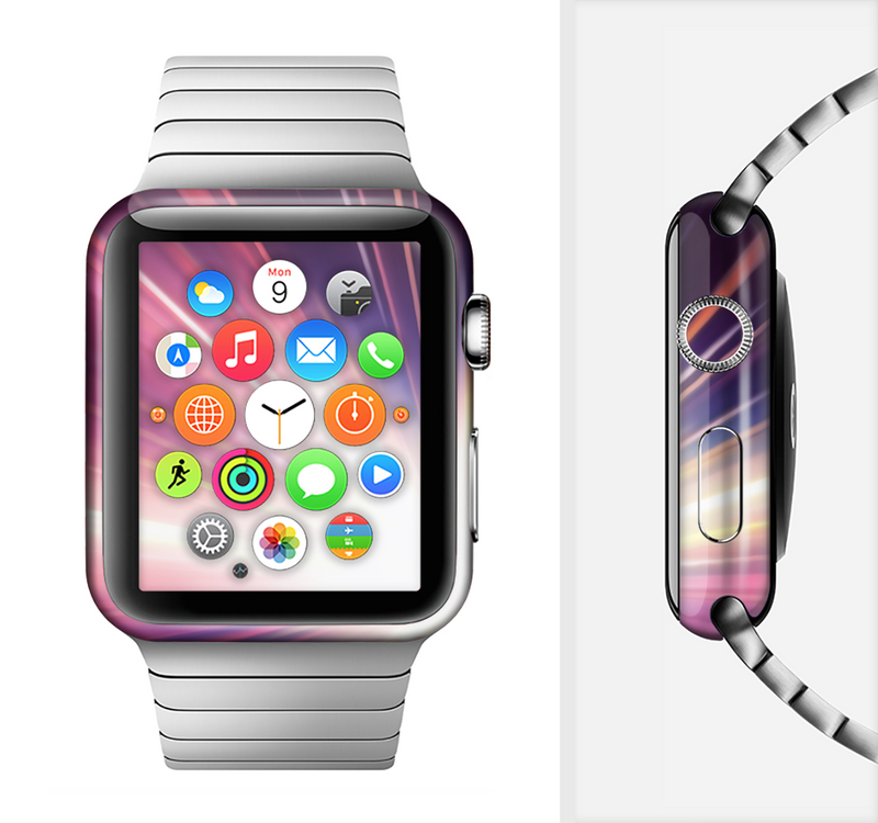 The Pink Rays of Light Full-Body Skin Set for the Apple Watch