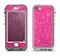 The Pink Sparkly Glitter Ultra Metallic Apple iPhone 5-5s LifeProof Nuud Case Skin Set