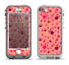 The Pink & Tan Paw Prints Apple iPhone 5-5s LifeProof Nuud Case Skin Set