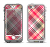 The Pink & Tan Plaid Layered Pattern V5 Apple iPhone 5-5s LifeProof Nuud Case Skin Set