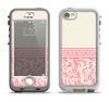 The Pink & Tan Polka Dot Pattern V1 Apple iPhone 5-5s LifeProof Nuud Case Skin Set