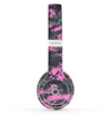 The Pink V3 and Gray Digital Camouflage Skin Set for the Beats by Dre Solo 2 Wireless Headphones