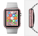 The Pink Vintage Stripe Pattern v7 Full-Body Skin Set for the Apple Watch