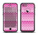 The Pink & White Ombre Chevron V2 Pattern Apple iPhone 6/6s LifeProof Fre Case Skin Set