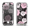 The Pink and Black Rose Pattern V3 Apple iPhone 5-5s LifeProof Nuud Case Skin Set
