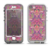 The Pink and Green Paisley Seamless Pattern Apple iPhone 5-5s LifeProof Nuud Case Skin Set