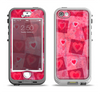 The Pink and Red Hearts in Blocks Apple iPhone 5-5s LifeProof Nuud Case Skin Set