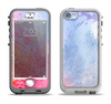The Pink to Blue Faded Color Floral Apple iPhone 5-5s LifeProof Nuud Case Skin Set