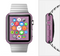 The Purple Fabric Texture Full-Body Skin Set for the Apple Watch