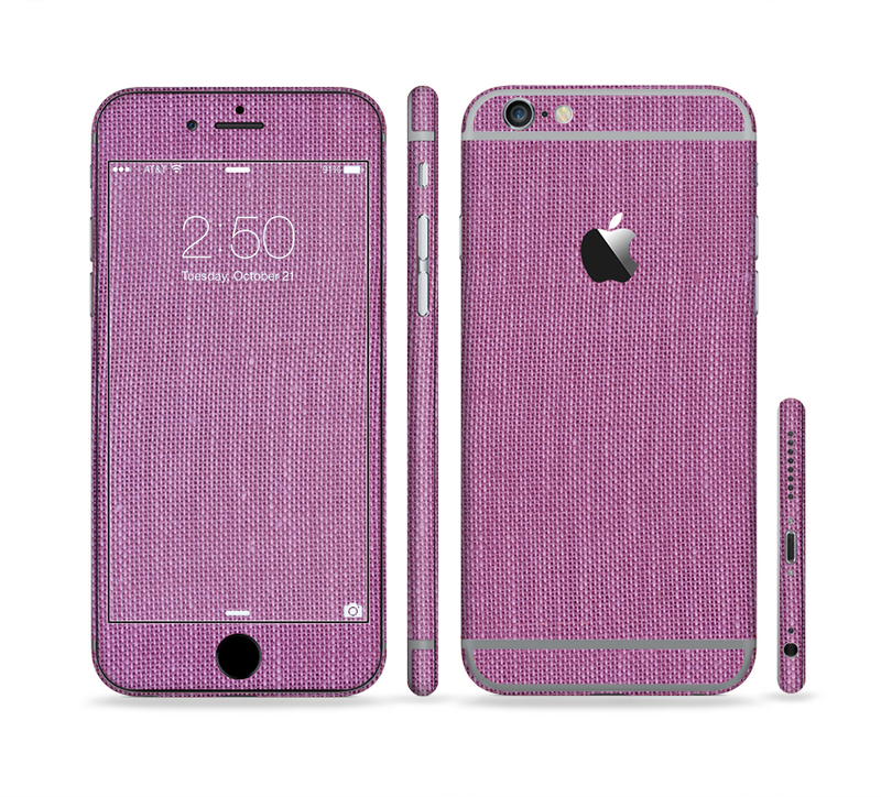 The Purple Fabric Texture Sectioned Skin Series for the Apple iPhone 6/6s Plus
