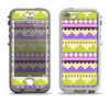 The Purple & Green Tribal Ethic Geometric Pattern Apple iPhone 5-5s LifeProof Nuud Case Skin Set