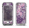 The Purple & White Butterfly Elegance Apple iPhone 5-5s LifeProof Nuud Case Skin Set