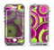The Purple and Green Layered Vector Circles Apple iPhone 5-5s LifeProof Nuud Case Skin Set