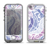 The Purple and White Lace Design Apple iPhone 5-5s LifeProof Nuud Case Skin Set