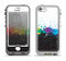 The Rainbow Paint Spatter Apple iPhone 5-5s LifeProof Nuud Case Skin Set