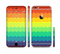 The Rainbow Thin Lined Chevron Pattern Sectioned Skin Series for the Apple iPhone 6/6s Plus