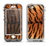 The Real Tiger Print Texture Apple iPhone 5-5s LifeProof Nuud Case Skin Set