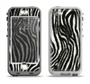 The Real Vector Zebra Print Apple iPhone 5-5s LifeProof Nuud Case Skin Set