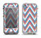 The Red-White-Blue Sharp Chevron Pattern Apple iPhone 5-5s LifeProof Nuud Case Skin Set