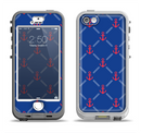 The Red & Blue Seamless Anchor Pattern Apple iPhone 5-5s LifeProof Nuud Case Skin Set