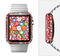 The Red Floral Sprout Full-Body Skin Set for the Apple Watch