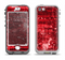 The Red Grunge Paint Splatter Apple iPhone 5-5s LifeProof Nuud Case Skin Set