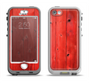 The Red Highlighted Wooden Planks Apple iPhone 5-5s LifeProof Nuud Case Skin Set
